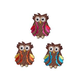 MOTIF ECUSSON THERMOCOLLANT HIBOU - LOT DE 3