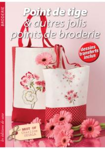 "Livre ""Point de tige & autres jolis points de broderie"" - Editions de Saxe"