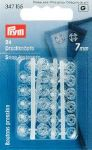 Boutons pression 7mm en plastique transparent - lot de 24 - Prym