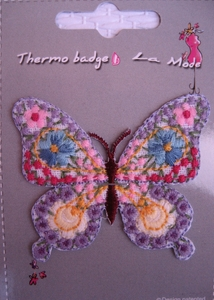 Ecusson thermocollant Motif Papillon brodé