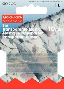 Elastique transparent 10mm
