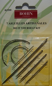 Aiguilles artisanales : courbes,matelas,cuir,toile, broder, voile - BOHIN France