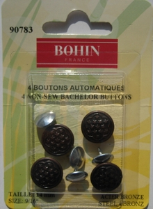 Bouton jeans automatique coloris bronze