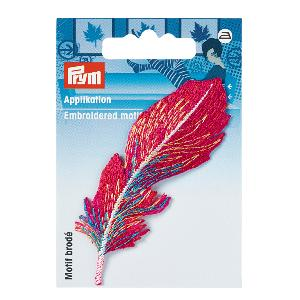 MOTIF ECUSSON THERMOCOLLANT PLUME ROUGE