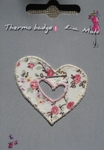 Ecusson thermocollant Coeur Liberty Rose