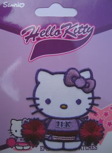 MOTIF THERMOCOLLANT  Hello Kitty Pom-Pom Girl
