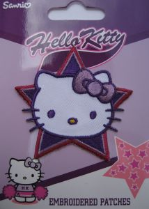 Ecusson thermocollant Hello Kitty Forme Etoile Brodée