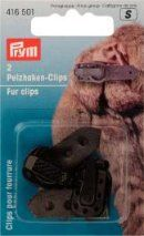Clips pour fourrure-marron-lot de 2