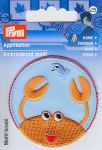 "Ecusson thermocollant ""Crabe orange"""