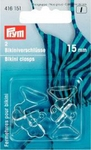 Lot de 2 clips maillot de bain transparent 15mm Prym