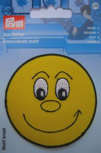 MOTIF ECUSSON THERMOCOLLANT  Smiley jaune