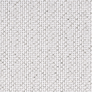 Coupon toile Aida Star zweigart 5.4 points  48x53cm Blanc+paillette