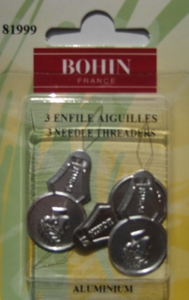 Enfile aiguille aluminium BOHIN France - Lot de 3