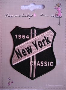 Ecusson thermocollant Bouclier 1964 New York Classic