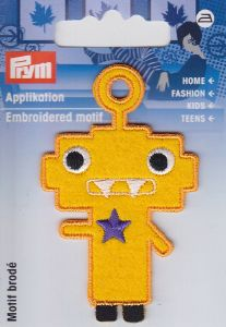 "Ecusson thermocollant ""Robot orange"""