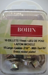 Oeillets 11mm Nickel + jeu de pose - Bohin