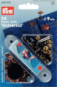 Rivets 9mm coloris bronze blister de 24 rivets - Prym