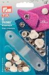 Boutons Pression Jersey - 12mm - Blanc - lot de 6 - prym
