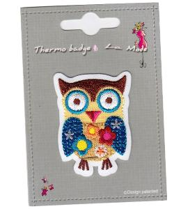 "MOTIF THERMOCOLLANT   ""hibou"""