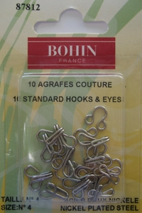 Agrafes couture - Argent - Bohin France