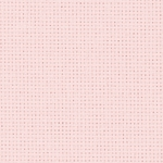 Coupon toile zweigart 5.4 points  48x53cm Rose