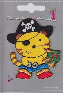 "MOTIF THERMOCOLLANT  ""Chat pirate"""